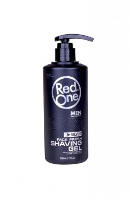 "RED ONE shaving gel transparentný ""silver"" 500 ml"